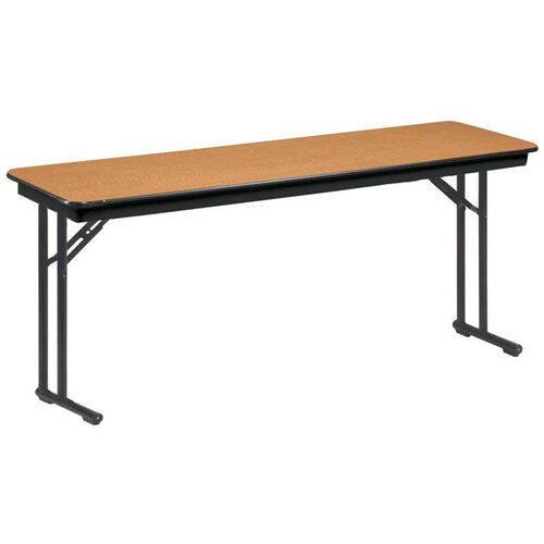 EF Series Comfort Leg Seminar Plywood Core Folding Table - 18''W x 60''L x 30''H