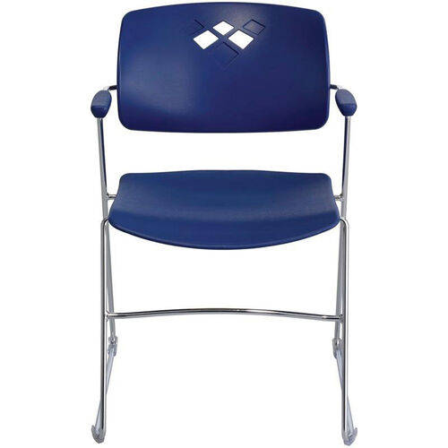 Veer™ 21.25'' W x 22'' D x 32.5'' H Flex Frame Stack Chair - Set of Four - Blue