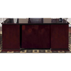 OSP Furniture Mendocino Hardwood Veneer Double Pedestal Desk
