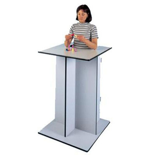 Economy Stand-In Table with Adjustable Platform - 30''W X 30''L X 45''H