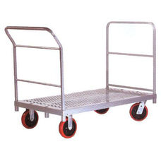 Heavy Duty Steel Frame Platform Truck with 8'' Casters and End Handle