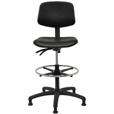Indy 300 Series Small Back Single Shift Adjustable Swivel and Seat Height Stool
