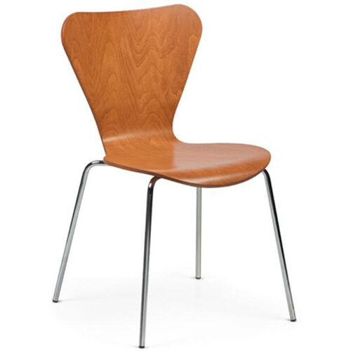 Clover Steel Frame Stacking Chair - Honey Beech
