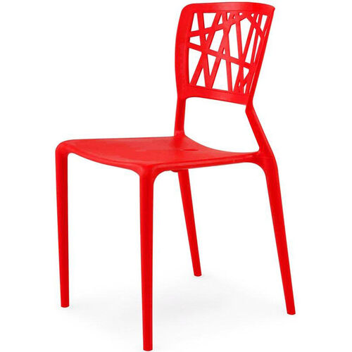 Phoenix Outdoor Stackable Armless Side Chair - Red