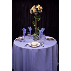 108'' Renaissance Stain Resistant Series Round Tablecloth - Periwinkle