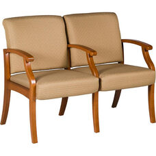 Florin Two Seater Guest Chair - Leather Upholstery
