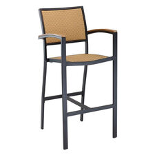 St. Augustine Collection Outdoor Barstool with Arms