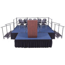 Adjustable Height Complete Package Stage and Seated Riser - 144''W x 384''D x 16''H - 24''H
