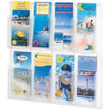 Reveal™ Eight Pamphlet Thermoformed Display - Clear