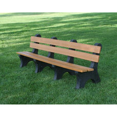 Colonial 8' Recycled Plastic Bench with Black Base