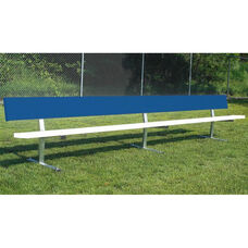 Portable Player Bench with Steel Supports and Seat