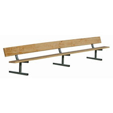 Build-Your-Own Portable 16 Foot Long Player Bench with Back