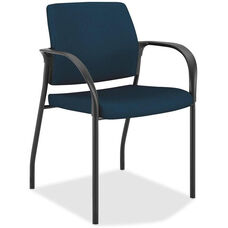 The HON Company Stacking Multipurpose Armchair with Glides - Mariner