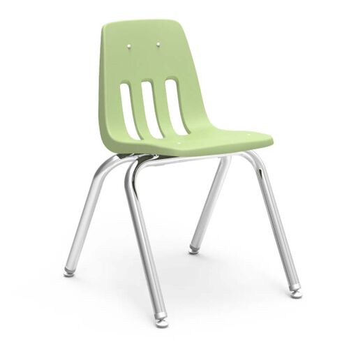 9000 Classic Series Stack Chair with 16''H Polypropylene Seat - 16.75''W x 19.5''D x 27''H