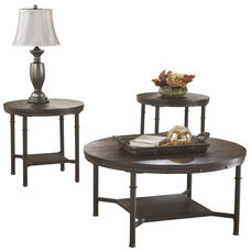 Signature Design by Ashley Sandling 3 Piece Occasional Table Set