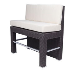 Roma Duraweave Bar Booth with Upholstered Back and Seat - Espresso