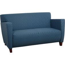OSP Furniture Custom Fabric Love Seat - Cherry