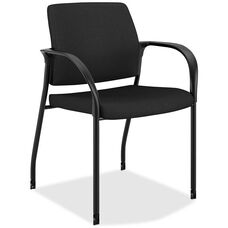 The HON Company Mobile Stacking Multipurpose Armchair with Casters - Black