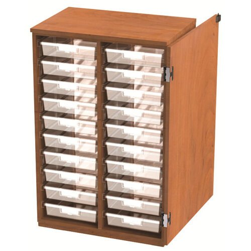 20 Tote Tray Storage Solution with Door - 28''W x 24''D x 46''H
