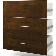 Pur 3-Drawer Set for 36'' Storage Unit - Chocolate