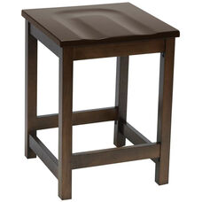 Eastwood Backless Counter Height Stool with Contoured Wood Seat - Walnut