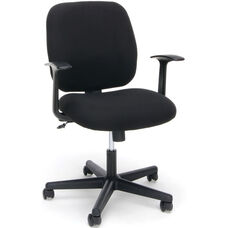 Essentials Swivel Upholstered Task Chair with Arms - Black