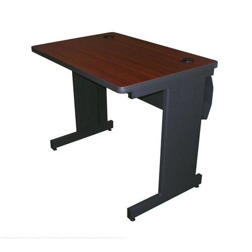 Pronto® 36'' W x 24'' D Training Table with Lockable Raceway - Dark Neutral Frame with Mahogany Top