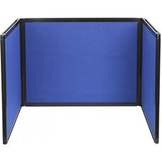 24'' High x 78'' Long with 24''H x 26''L Panel Tabletop Display - Fabric