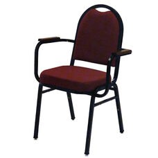 1500 Series Stacking Hospitality Armchair with Rounded Back and 2'' Upholstered Box Seat