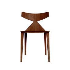 Grandprix Armless Chair with Tapered Legs - Walnut
