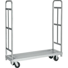 Narrow Tall End Steel Frame Truck with 4 Swivel Casters - 16''W x 54''D