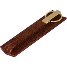 Protacini Italian Patent Leather Gold Library Set - Cognac Brown