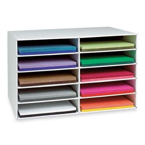 Pacon Construction Paper Storage - 10 Slots - 16 -78'' x 18 -1/2'' x 26 -7/8''
