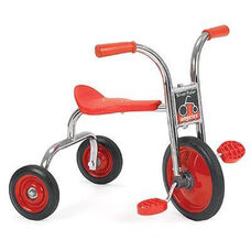 Silver Rider 10'' Pedal Pusher with Spokeless Solid Rubber Wheels - Red