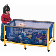 Rectangular Mobile Equipment / Toy Box with Lockable Casters