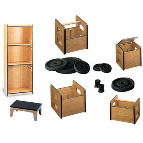 Work-Well System I with Natural Oak high-Pressure Laminate Protective Finish - Start-Up Package