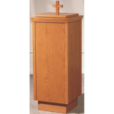 Stained Red Oak Baptismal Font