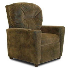 Kids Micro-Suede Theater Recliner with Cup Holder - Brown Bomber