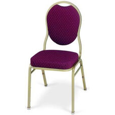 Prestige Banquet Stack Chair with Waterfall Style Seat - Oval Open Back