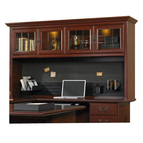 Heritage Hill 72.5''W Desk Hutch with Display Light - Classic Cherry