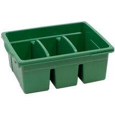 Royal Large Divided Environmentally Friendly Tough Plastic Tub - Green - 15.63''W x 12.56''D x 6''H