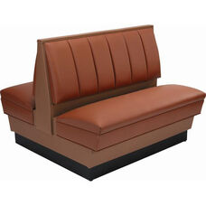 36''H Alex Style Double Sided Upholstered Booth - Grade 5 Vinyl