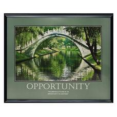 Advantus 30'' W x 24'' L Framed Motivational Art Print - Opportunity with Bridge