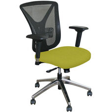Fermata Executive Mesh Chair with Aluminum Base - Lime Fabric