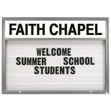 Marquee One Single Sided 4''D Changeable Sign System with Header - Satin Anodized Finish