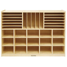 Birch Mobile Multi-Section Storage Cabinet with Various Sizes Storage - 48''W x 13''D x 36''H