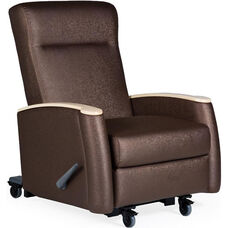 Tranquility Mobile Medical Rocker / Lock Recliner - Grade 2 Fabric
