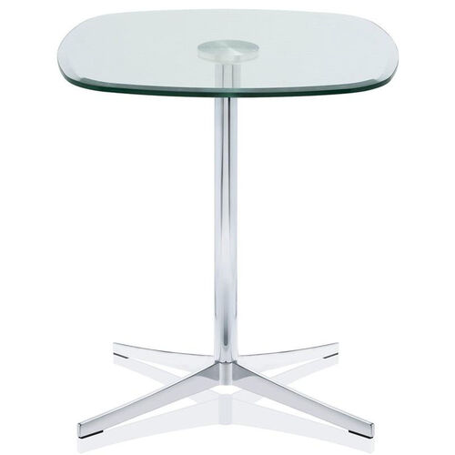 Axium 24'' Soft Corner Tempered Glass Table - 29''H