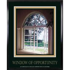 Advantus 24'' W x 30'' L Framed Motivational Art Print - Window of Opportunity with Open Window