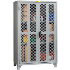 High Visibility Storage Cabinet with Locking Handle - 24''W x 48''D